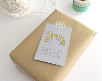 Gift Cards 10 pieces / Hello (5,5 x 8,5 cm)