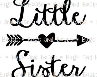 Little Sister with arrow SVG and DXF files