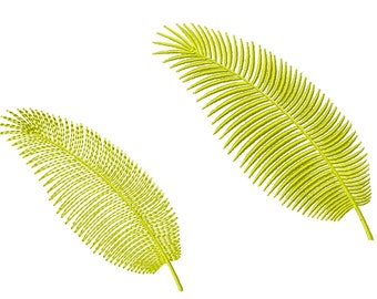 Large Palm Leaf Machine Embroidery Design
