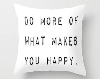 Black and White Pillow - Inspirational Pillow - Modern Decorative Pillows - Velveteen Pillow Cover - Modern Pillow - Modern Home Decor Gifts