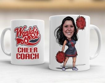 Cheer Coach Caricature Mug Gifts Gift Ideas