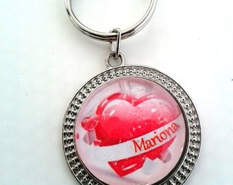 Heart KEYCHAIN with name - LLSV3