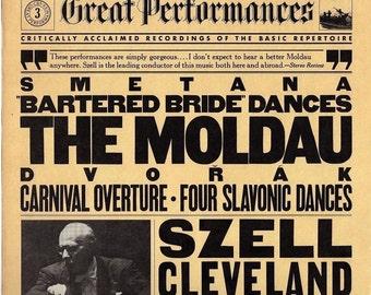 Dvorak~The Moldau~Carnival Overture/Four Slavonic Dances~ Szell~ Cleveland Orchestra~ 1981 CBS Records Vinyl LP~NM
