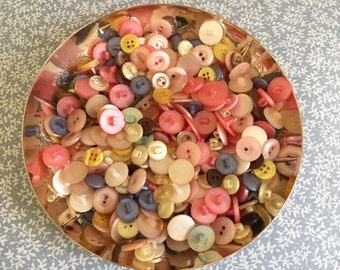 Vintage Buttons different size and color