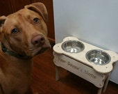 Wooden Dog Bowl Stand Pick Your Height Comes With Bowls Made In The USA SALE