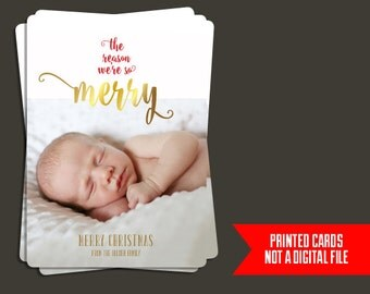 Baby Christmas Card - Photo Christmas Card