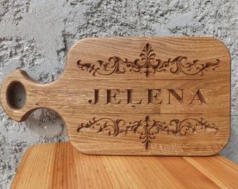 Personalized Wood Oak Cutting Board, Wedding, Housewarming, Anniversary Gift, Custom Engraved