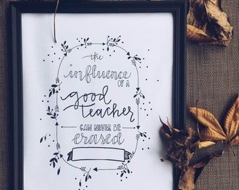 "Teacher Quote w/ Customizable Name - 8.5 x 11"" PRINT ONLY"