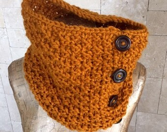 Mustard Scarf - Chunky Scarf - New Infinity Scarf - Knitted Scarf - Circular Scarf - Scarves - Winter Accessoriest