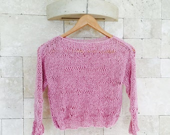 Pink Knit Sweater , Pink Chunky Sweater, Womens Sweater, Womens Pink Chunky Oversized Sweater, Women's Clothing