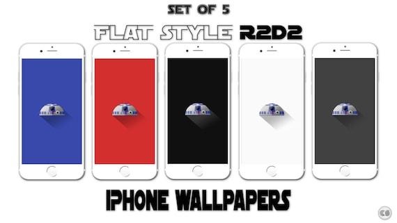 Set Of 5 Flat/Minimal R2D2 Star Wars IPhone By
