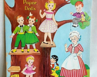 Vintage Paper Doll Book - Paper Dolls - Once Upon a Time