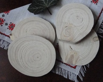 Rustic wood discs. Wood Slices , pine wheels, tree slices, large wood slice .