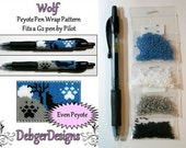 Wolf by Debger Designs beaded pen kit (pattern sold separately)