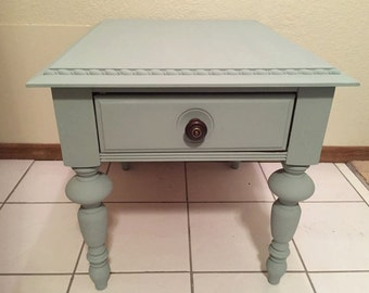 SOLD! Refinished Broyhill end table