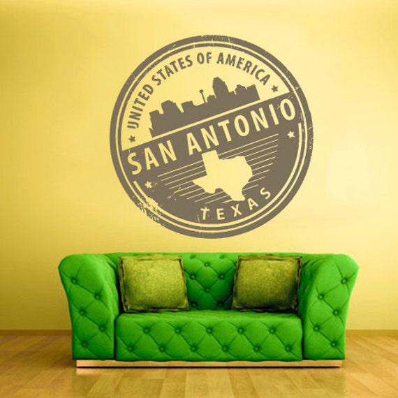 Rvz1294 wall decal vinyl sticker decals san antonio texas for Vinyl lettering san antonio