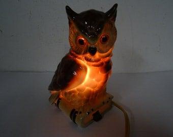 owl lamp germany 1940-50