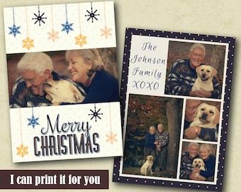 Printable Photo Christmas Cards, Holiday Card Templates, Christmas Cards With Photo, Diy Christmas Card, Custom Christmas Card, Xmas Cards