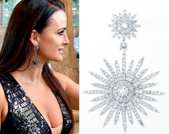 Silver Sol Earrings as seen on Kyle Richards