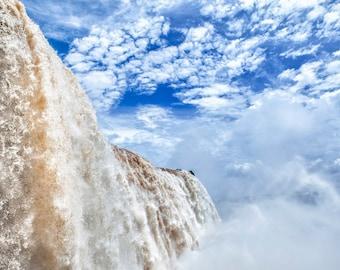 Brazil, Iguazu Falls, waterfall, Brazil photography, Brazil print, color photography, wall art print, photo, fine art #003
