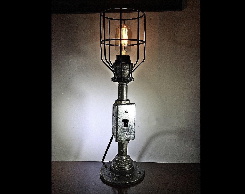 Pipe Lamp Steampunk Lamp Edison Lamp Industrial Lamp Iron