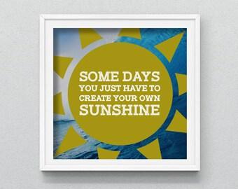 Printable/Downloadable Sunshine Picture