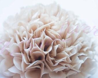 CARAMEL/1 tissue paper Pompoms,single pompom,nursery room decoration, baby shower,wedding,birthday,engagement,bridal shower,DIY,centerpieces