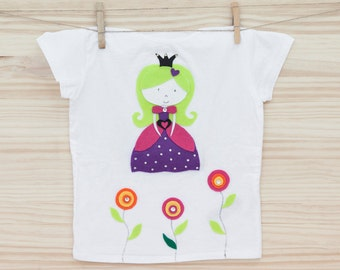 Princess t-shirt for girls 6-10 years