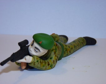 Soldier Rifle MTP Edible sugar paste decoration cake cupcake topper birthday
