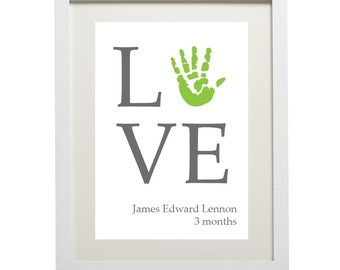 Love handprint (digital handprint)