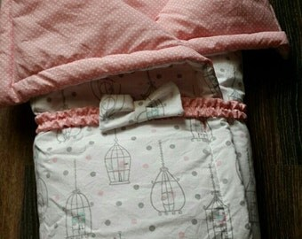 Blanket 3 in 1 Caged bird