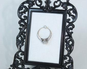Ring Holder | Bridal shower gift| Engagement Gift |  Framed Ring Holder