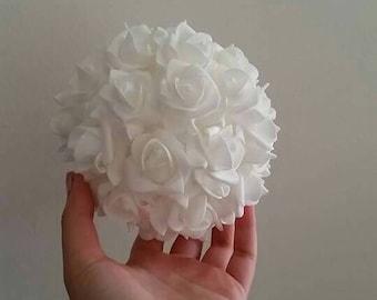 White rose ball for weddings