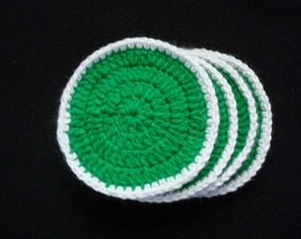 Green 4 set Crochet Coasters