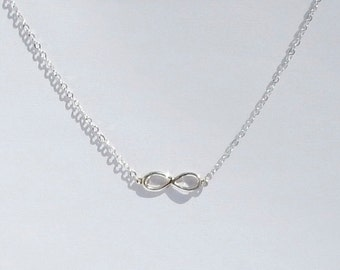 Handmade Sterling Silver Infinity Pendant and chain