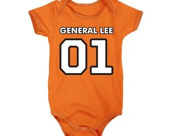 General Lee Retro One-Piece T-Shirt Onesie