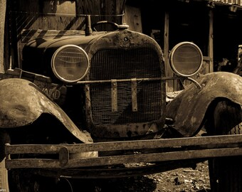 Old Ford, Antique Car Photo, Ford Photo, Car Photography, Car photo, Old car, Sepia Photo, Old Ford. Abandoned, Fine Art Photo, Antique Auto