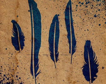 Feathers Stencil