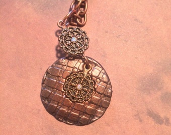 Clay charm necklace
