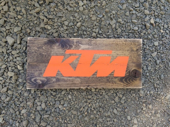 Ktm sign honda sign rustic wood father by auntieascountrydecor for Decoration ktm