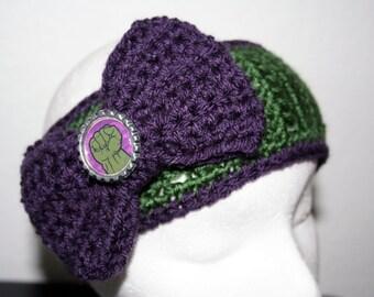 Hulk Inspired Winter Headband