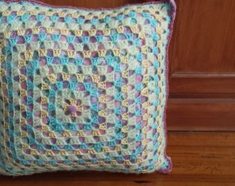 Spring Dreams Granny Square Pillow
