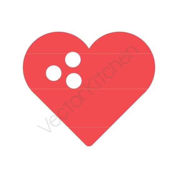 Heart Shaped Bowling Ball Cutting Template SVG EPS Silhouette