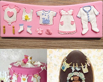 3D Silicone Deco Clothes Fondant Chocolate Cake  Mold