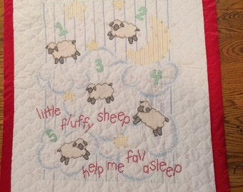 Handmade Cross-stitch Baby Quilt