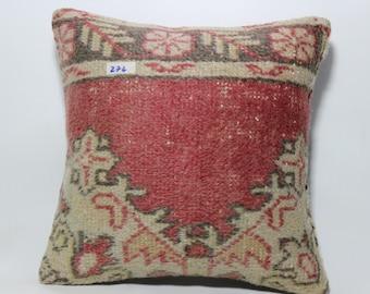 "patterned carpet pillow 18""x18 "" natural carpet pillow cover home decor floor pillow turkish pillow vintage pillow SP4545-274"