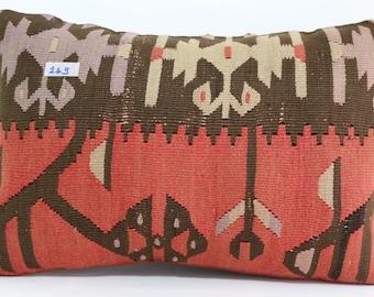16x24 lumbar kilim pillow 16x24 patterned kilim pillow cover vintage turkish kilim pillow cushion cover SP4060-149
