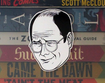 George Costanza Cut Out Sticker