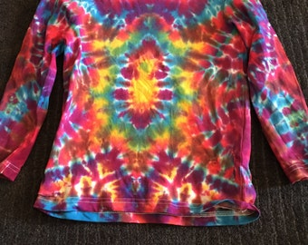 Tie Dye Child's Top Organic Cotton Long Sleeve Sz 6 New