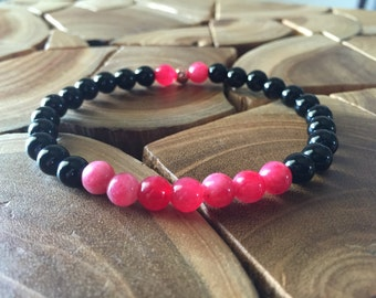Ruby and Black Onyx bracelet